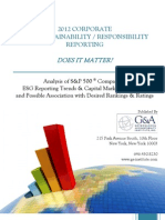 2012 CORPORATE ESG / SUSTAINABILITY / RESPONSIBILITY REPORTING