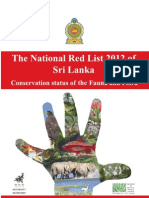 The National Red List 2012 (Sri Lanka)