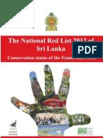 The National Red List 2012 (Sri Lanka)