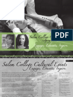 Salem College Cultural Events Catalog - Spring 2013