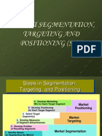market segmentation, targetting and positioning