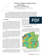 Use Simple 2D Filters to Reduce Footprint Noise in Seismic Data