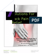 7 Solutions for Back Pain Relief Version 2