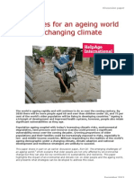 Strategies for an ageing world under a changing climate