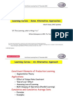 Application of Learning Curves in the Aerospace Industry Handout