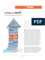 What's Next? Looking Ahead to 2013