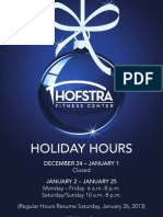 Fitness Center Holiday Hours 2012
