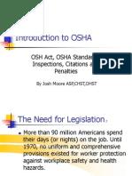 Osha Overview