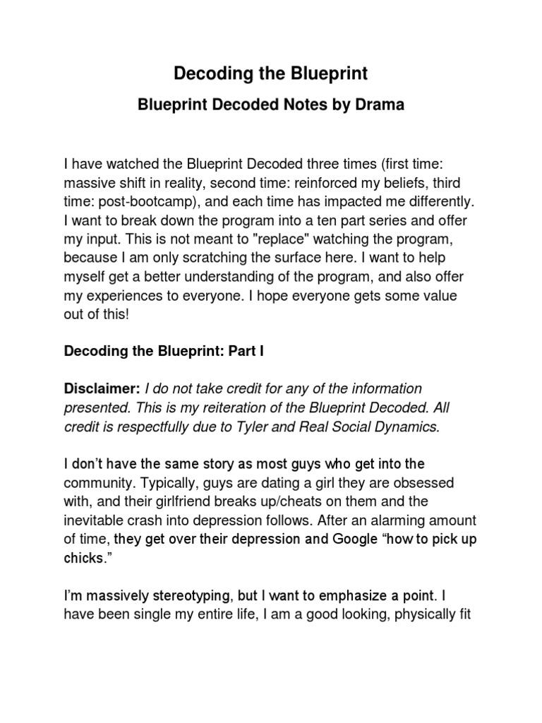 blueprint decoded dvd