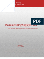 System Dynamics of the Manufacturing Supply Chain