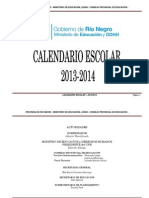 CALENDARIO ESCOLAR 2013 - 2014 RES. Nº03700-12