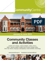 Parnell Community Centre Classes & Activities January - June 2013
