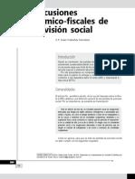 Repercusiones económico-fiscales de la previsión social