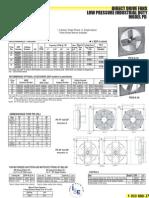 Direct Drive Low Pressure Fan PD