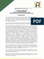 013 RES UAF 0033 12 Ley de Lavado