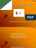 Proceso de inscripción a suplencias IEF 2013.