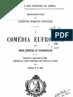 Comédia Eufrosina, de Jorge Ferreira de Vasconcelos