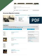 Publications 2012 | Slovenian Migration Institute