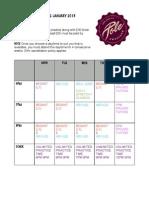 Jan 13 Timetable