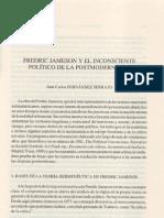 Fredric Jameson y El Inconsciente Politico de La Postmodernidad
