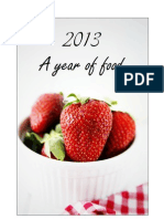 "2013 ""A year of food"" Calendar"