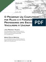 O Programa Um Computador por A luno e a Formação de Professores das Escolas Vinculadas à Unicamp .pdf