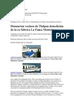 Denuncian vecinos de Tlalpan demolición de la ex fábrica La Fama Montañesa