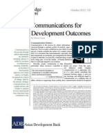 Communications for Development Outcomes
