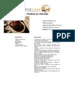 Fondant Au Chocolat - PtitChef