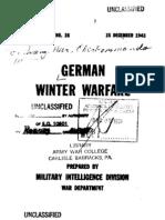 Special Series No 18 - German Winter Warfare (15 dec 1943)