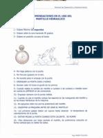 Material Recomendaciones Uso Martillo Hidraulico