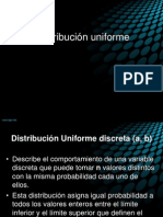 Distribucion Uniforme
