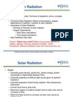 solar radiation calculation