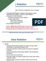 solar radiation calculation
