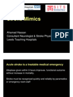 Dr Ahamad Hassan Stroke Mimics