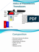 Characteristics of Piezoelectric Transducers