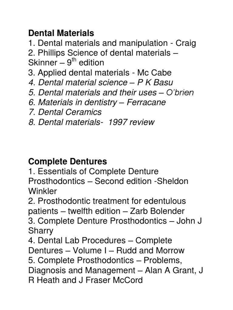 Book list prosthodontics dental implant fandeluxe Gallery
