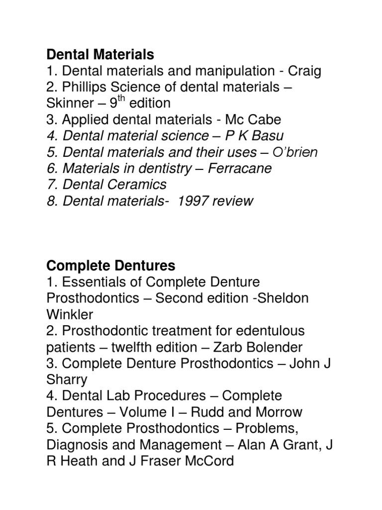 Book list prosthodontics dental implant fandeluxe Gallery