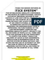 Needed Reforms in Justice System in India