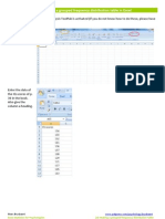 Excel2d How to Make Grouped Frequency Distributiontable