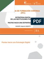 Pautas hacia una estrategia digital