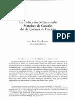 Pérez Pastor - Horacio - Ars poética o Epístola a los pisones, traducción de Cascales