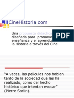 Presentación en diapositivas del proyecto CineHistoria