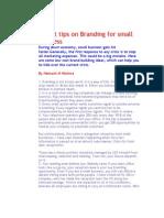21 hot tips on branding