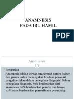 anamnesis ibu hamil