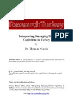 ResearchTurkey Interpreting Emerging Finance Capitalism in Turkey Dr. Thomas Marois1