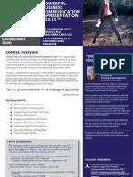 Powerful Business Communication & Presentation Skills, 17 - 18 February 2013 Dubai