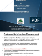 CRM and Retailing
