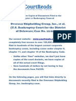 Links To Free Copies Of Documents Filed In The Chapter 11 Bankruptcy Cases Of Overseas Shipholding Group, Inc., Et Al. (U.S. Bankruptcy Court For The District Of Delaware; Case No. 12-20000)