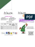 Vacances de Noël 2012